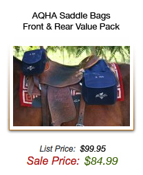 AQHA Saddle Bags - Front & Rear Value Pack